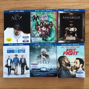 Other - 6 blue ray Sealed DVDs